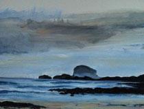 Bass Rock at dawn