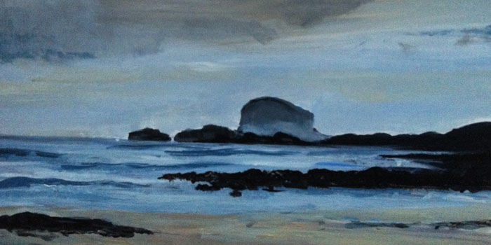 Bass Rock at dawn